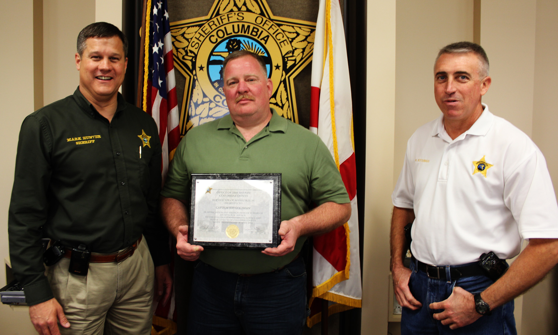CCSO Captain Retires - Columbia County, FL - Sheriff's Office