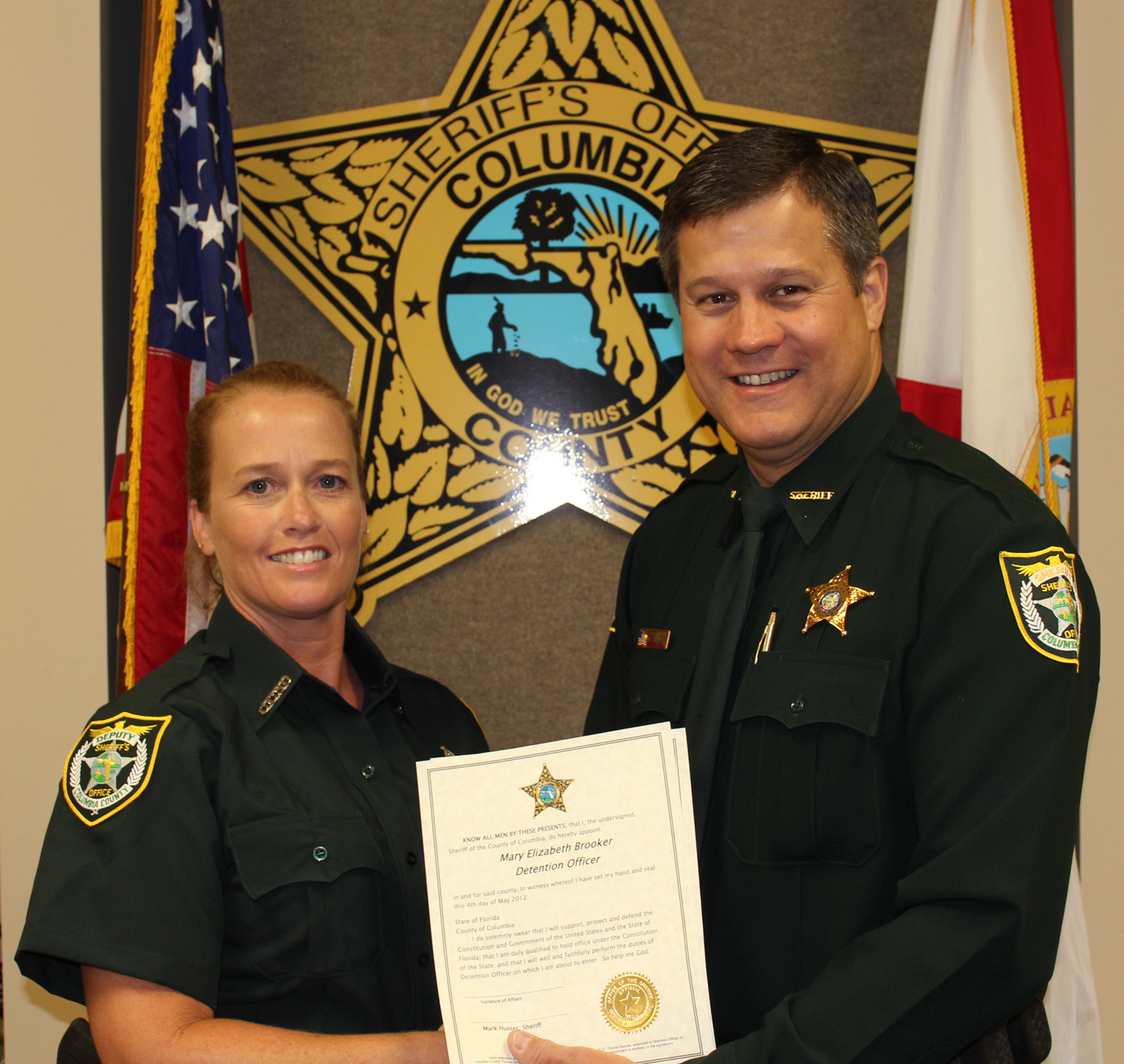 New Detention Officer Joins CCSO - Columbia County, FL - Sheriff's