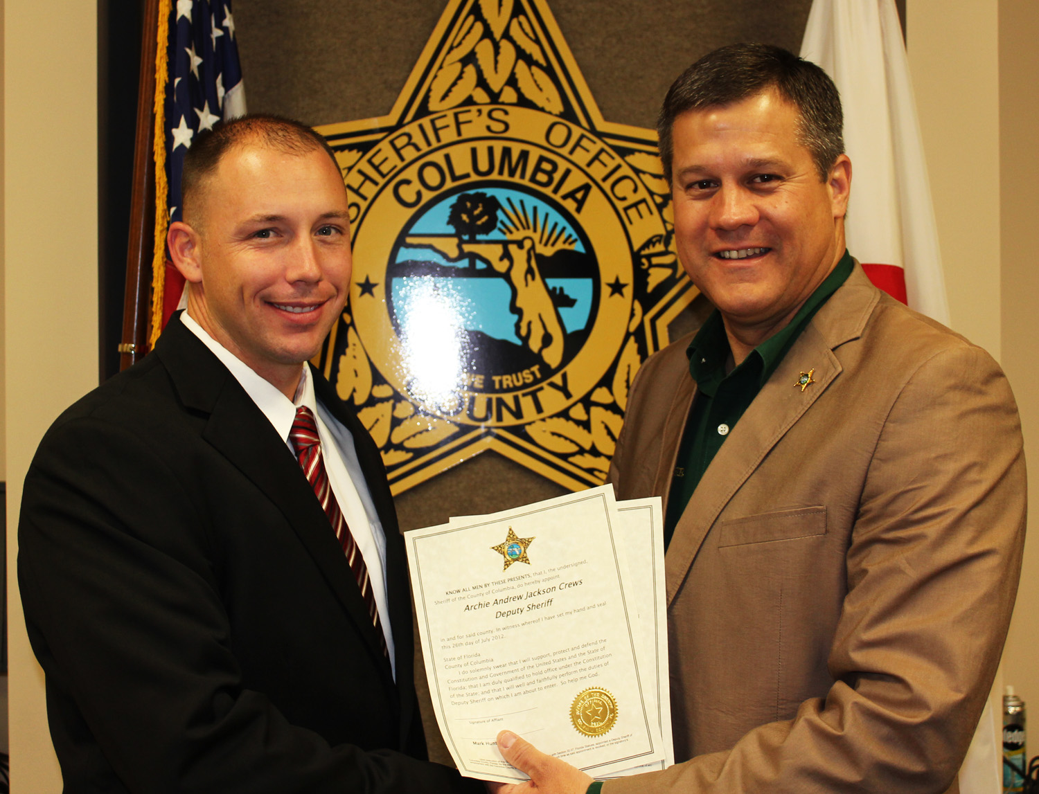 New Deputy Joins CCSO - Columbia County, FL - Sheriff's Office