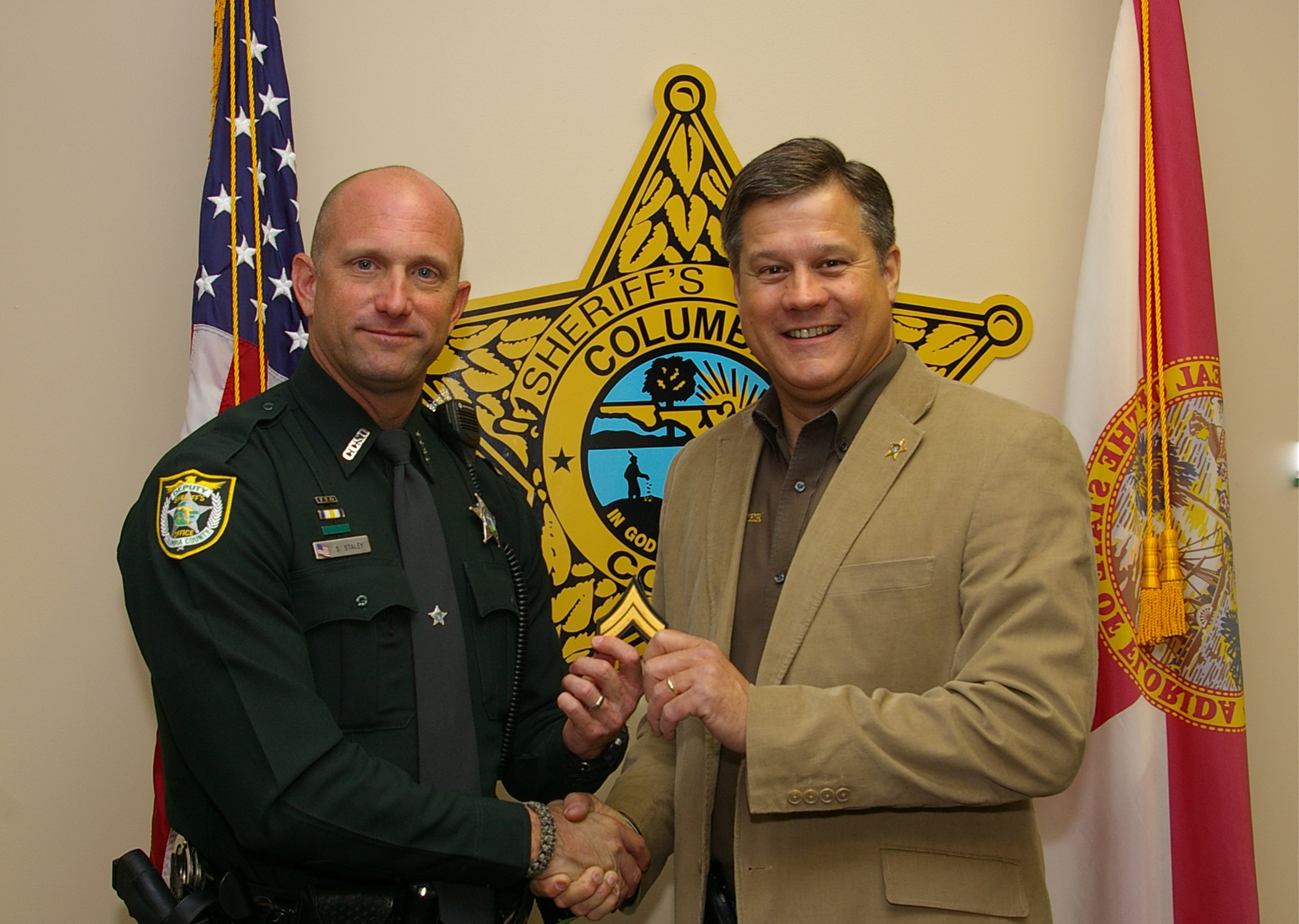 Corporal Scott Staley and Sheriff Mark Hunter