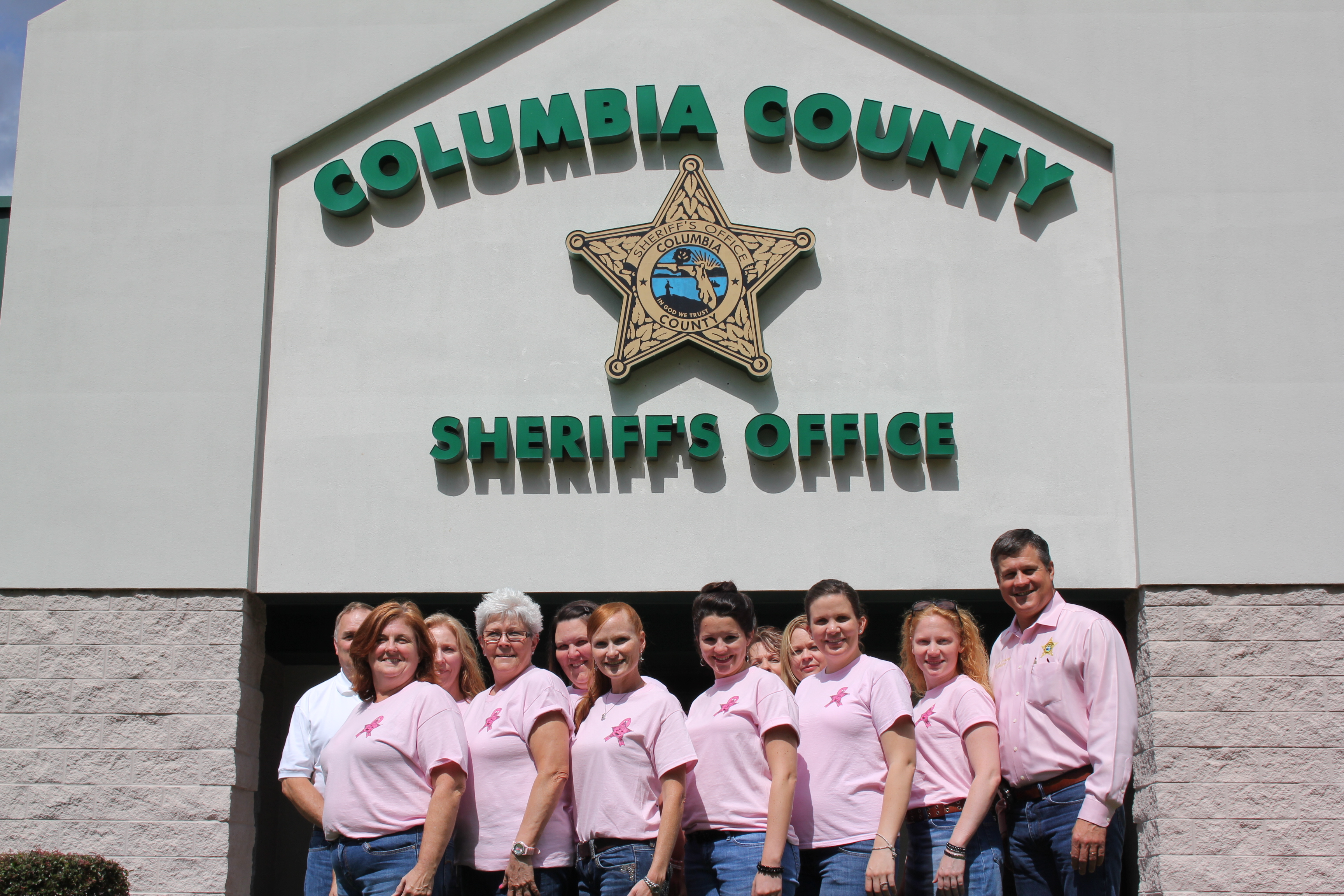 Sheriff Mark Hunter and some of the support staff at Operations