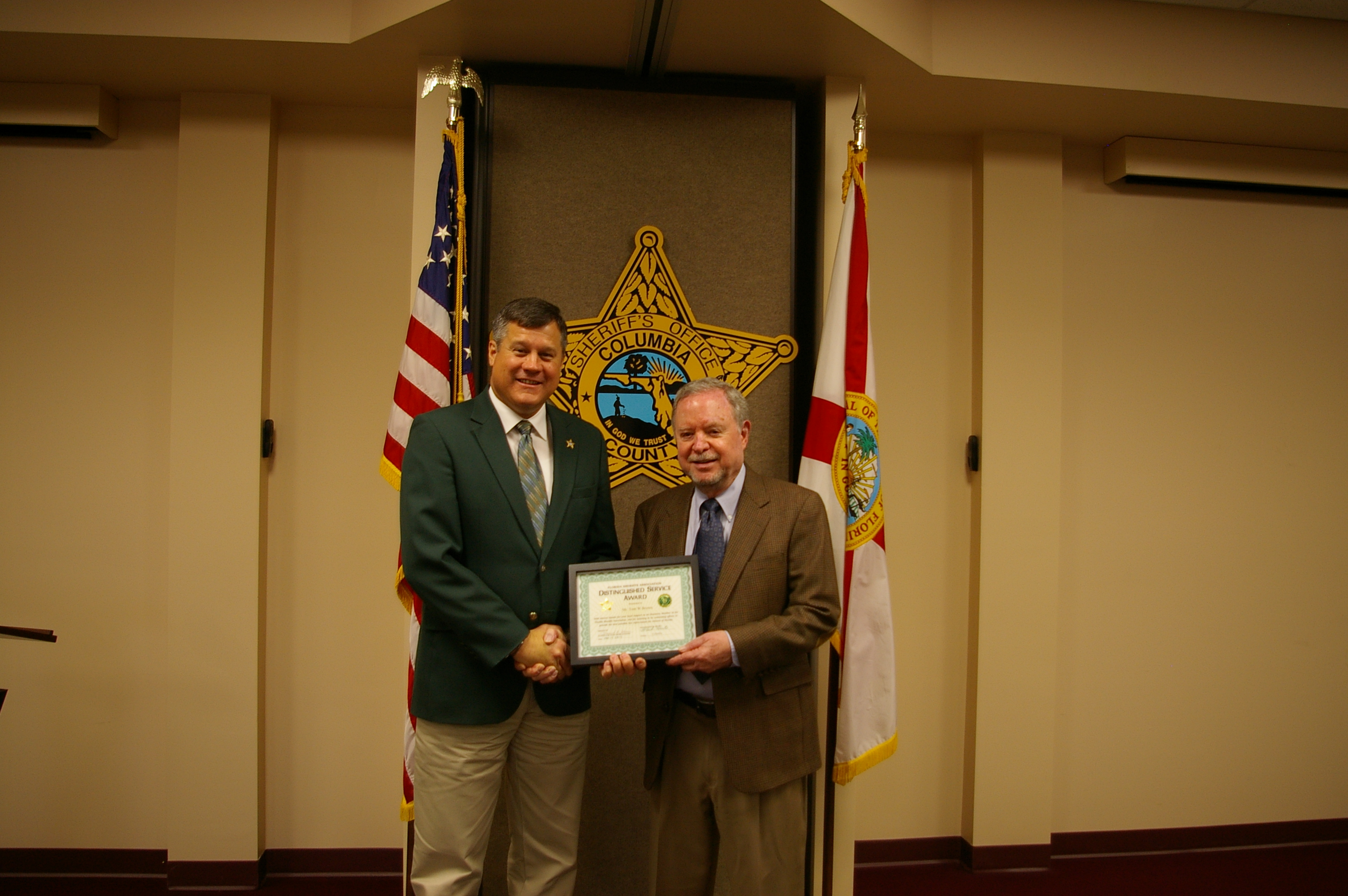 Sheriff Mark Hunter and Mr. Tom Brown
