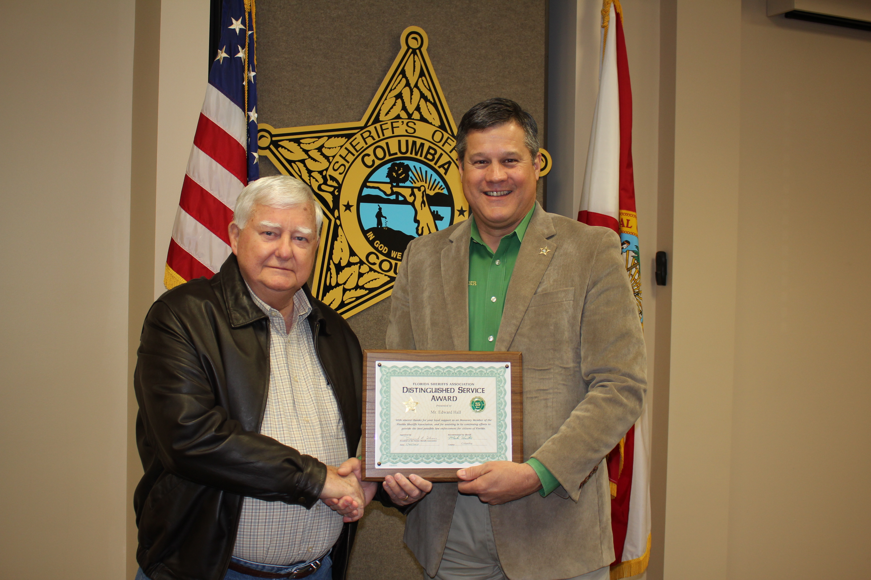 Mr. Edward Hall and Sheriff Mark Hunter