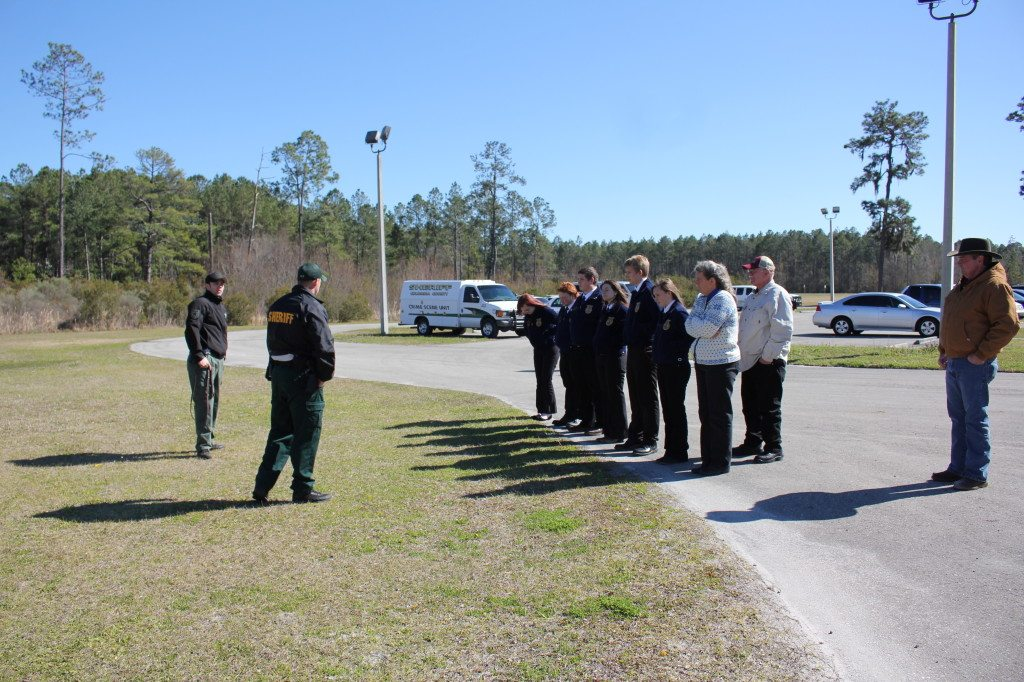 Students get a up close look at the Sheriff's Office K9 unit