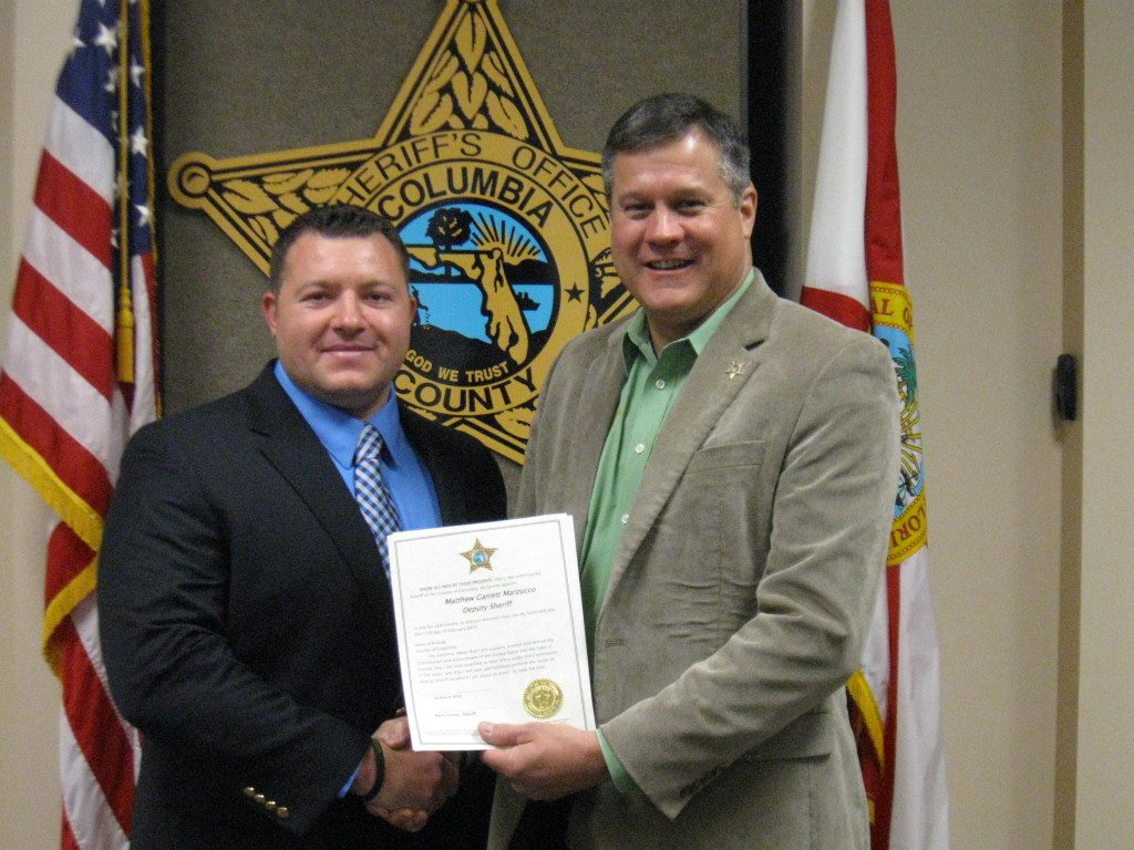 Deputy Matt Marzucco and Sheriff Mark Hunter