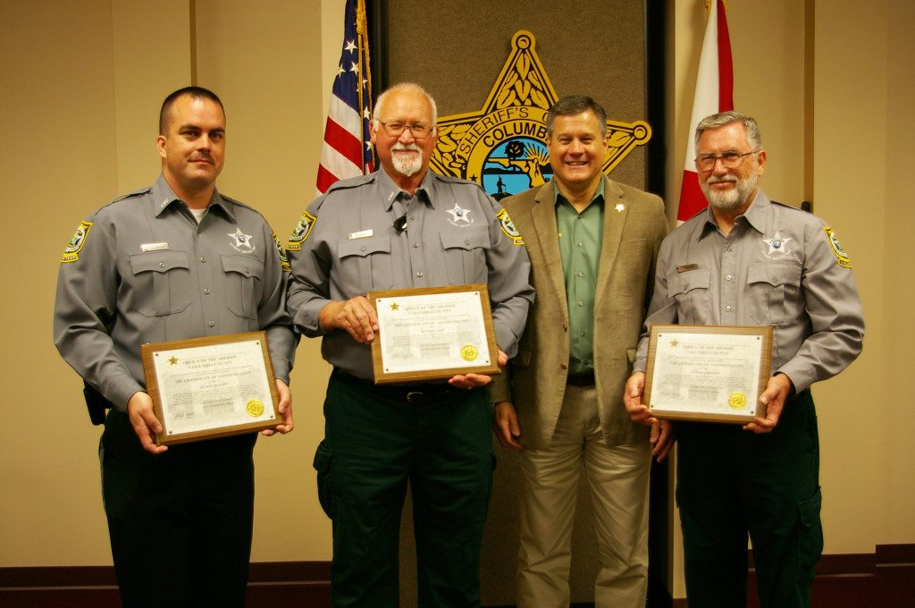 Jason Massey, Ronnie Ash, Sheriff Mark Hunter, and James Grimes L-R