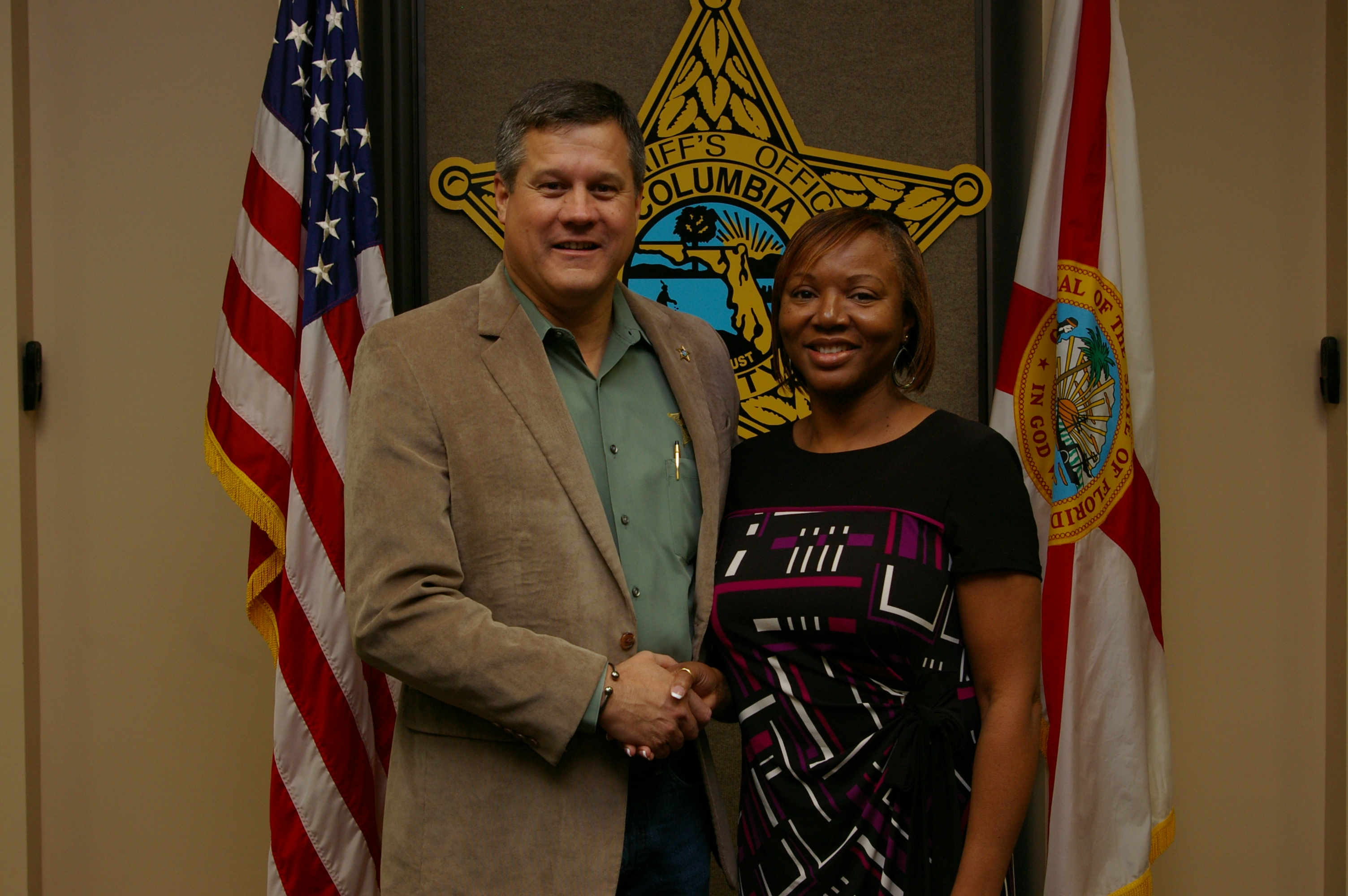 Sheriff Mark Hunter and Ms. Cathy Davis