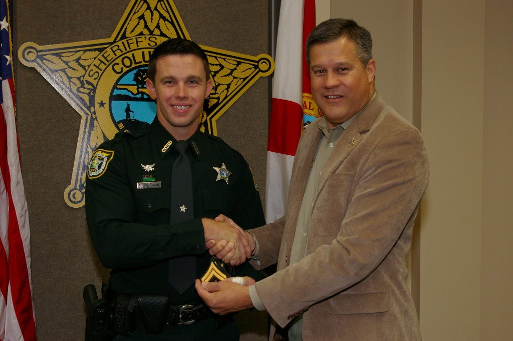 Corporal Brian Lucas and Sheriff Mark Hunter
