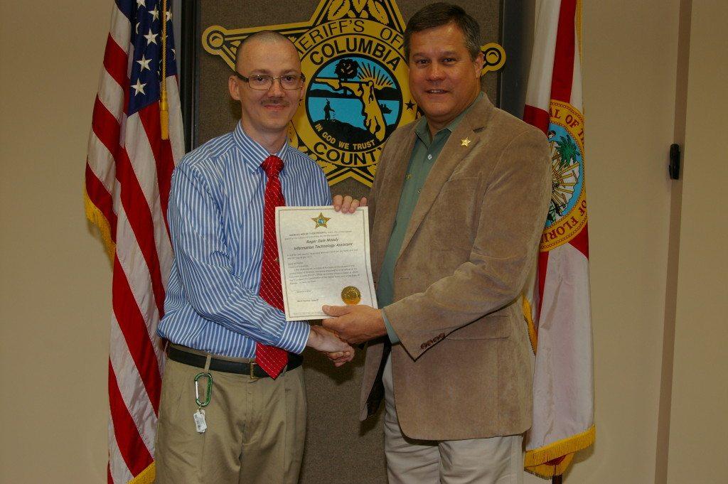 Roger Moody and Sheriff Mark Hunter