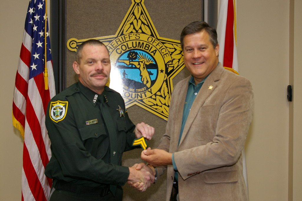 Corporal Raymond Brown and Sheriff Mark Hunter