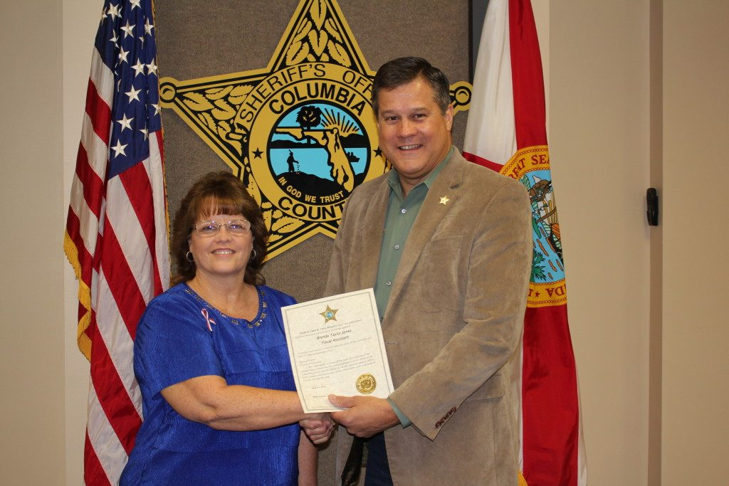 Ms. Brenda Jones and Sheriff Mark Hunter