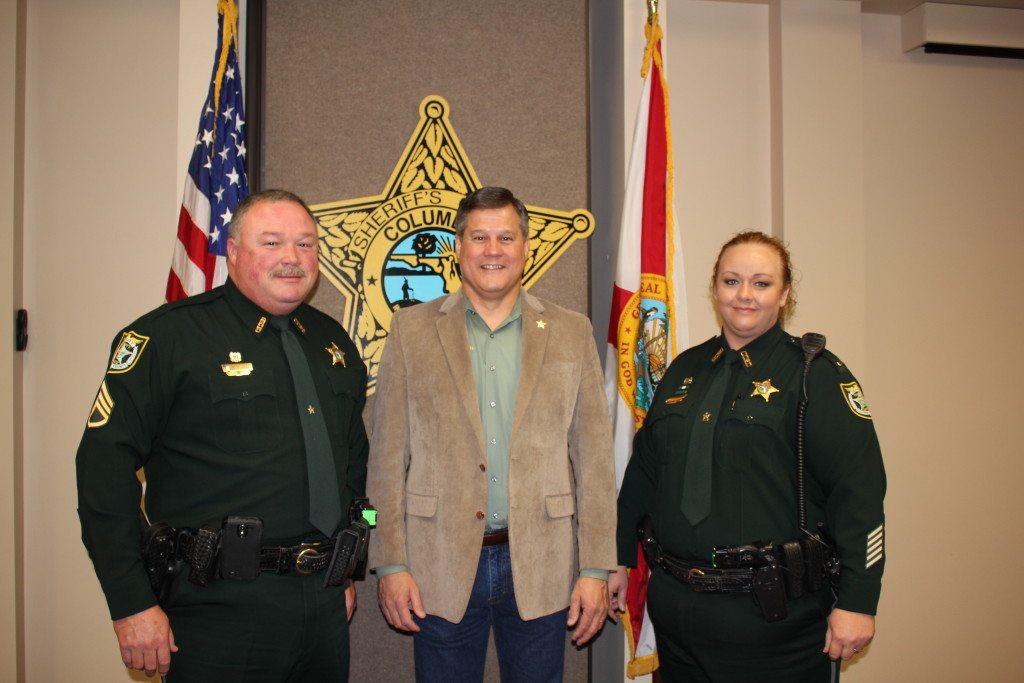 Lieutenant Robert Dees, Sheriff Mark Hunter, and Captain Katina Dicks