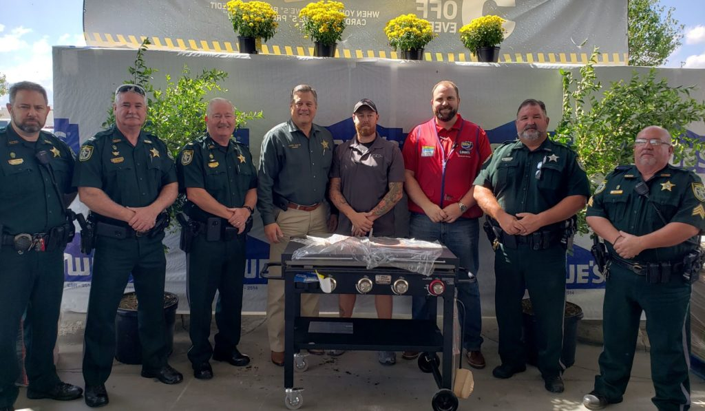 picture of group at donated grill
