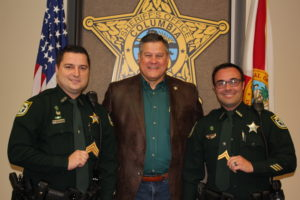 picture of Sheriff Hunter and promotees