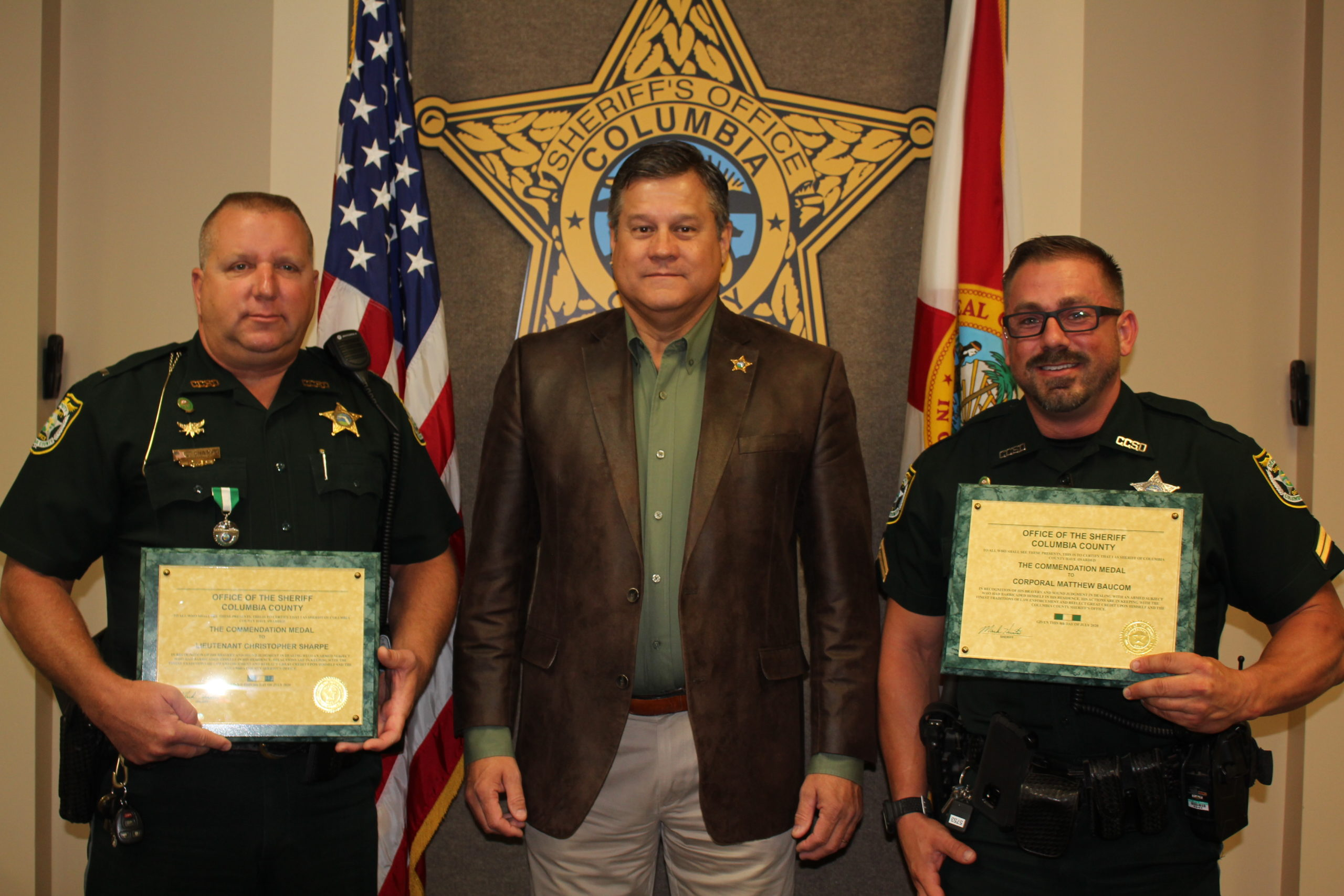 picture of sheriff and 2 deputies